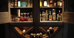 bar awesome built in bar cabinets maximizing limited space in