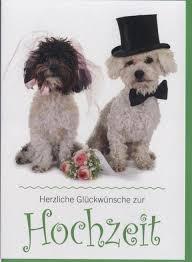 spr che hochzeit lustig glückwunschkarte zur hochzeit hunde tiere herzlichen glückwunsch