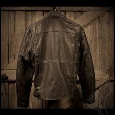 leather biker gear river road rambler leather jacket mens leather vintage