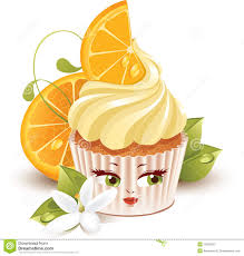 orange cupcake clipart collection