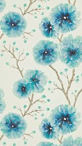 Flower Wallpaper Home Decor 48 Best Turquoise Images On Pinterest Pantone Curtains And