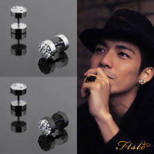men stud earrings black stud earrings for men ebay