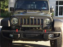 Led Light Bar On Bumper Jeep Wrangler Forum
