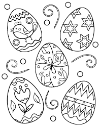 Decorate Easter Egg Printable by Free Easter Egg Coloring Page