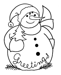 coloring pages snowman coloring