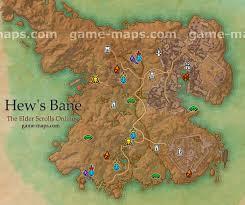 Eso Maps Hew U0027s Bane Map The Elder Scrolls Online Game Maps Com