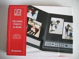 talking photo album talking photo album brookstone professional photo