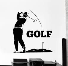 vinyl wall decal golf club player golf sport stickers mural vinyl wall decal golf club player golf sport stickers mural ig4477