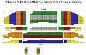 United Center Seating Map Faq Richmond Ballet