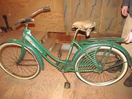 antique bicycle slow