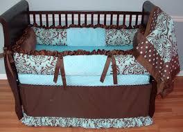 light blue girls bedding blue chocolate damask jpg