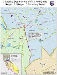 california map detailed cdfw regions