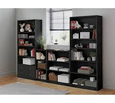 Bookcase With Drawers Buy Home Maine 4 Shelf Extra Deep Bookcase Black Ash At Argos Co