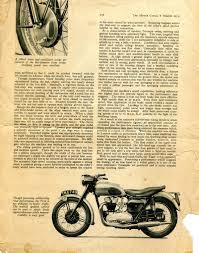triumph t110 triumph tiger 110 1954