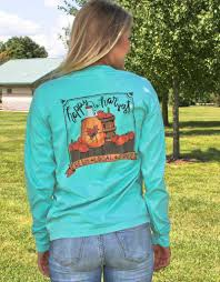 Comfort Colors Chalky Mint Geneologie Happy Harvest Long Sleeve T Shirt In Chalky Mint