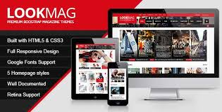 lookmag html5 responsive template themifycloud