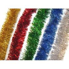 f c 18 ft soft silky silver tinsel garland