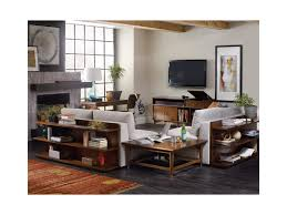Two Sofa Living Room Hooker Furniture Studio 7h Chapter Two Sofa Bookcase Console With