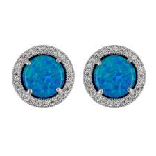 blue opal earrings opal archives fire and ice