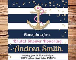 Nautical Bridal Shower Invitations Anchor Bridal Shower Etsy