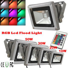 Rgb Landscape Lights Rgb Led Flood Light 10w 20w 30w 50w Ac85 265v Waterproof Outdoor