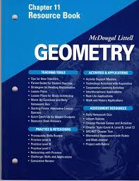 mcdougal littell geometry chapter 11 resource book mcdougal