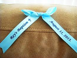 personalized ribbons for favors baptism funeral personalized ribbons bows gift baskets