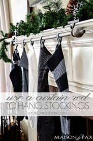 Cheap Black Curtain Rods Classy And Affordable Diy Stocking Hanger Maison De Pax