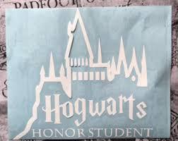hogwarts alumni bumper sticker ravenclaw car decal etsy
