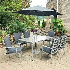 umbrella table and chairs patio table 6 chairs furniture for outside cheap outside table and