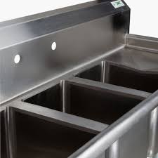 used 3 compartment stainless steel sink stunning triple kitchen sink compartment with drainboards pict for