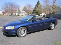 2006 chrysler sebring convertible in midnight blue pearl 285980