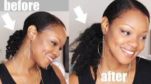 hair pony tail for african hair crochet braid ponytail hack thicker hair no braiding thin