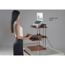 height adjustable sit stand computer desk ssd 3hy