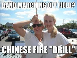 Fire Drill Meme - band marching off field chinese fire drill front ensemble tom