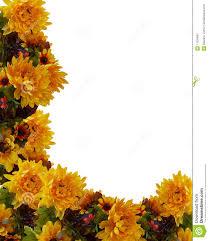 Fall Flowers Autumn Fall Border Flowers Royalty Free Stock Photography Image