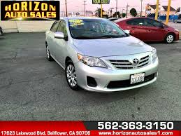 toyota credit bank used 2013 toyota corolla le in bellflower