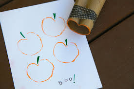 Halloween Toilet Paper Roll Crafts by Diy Toilet Paper Roll Pumpkin Stamps Pretty Prudent