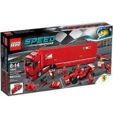 lego speed champions mercedes lego 75913 speed champions f14 t and scuderia ferrari truck set