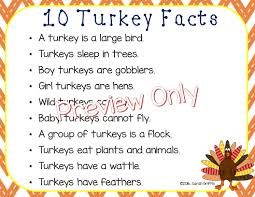 daughters and kindergarten ten turkey facts for
