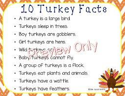 daughters and kindergarten ten turkey facts for