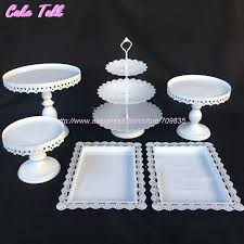 cake stands wholesale 2018 wholesale white wedding cake accessory stand set cupcake