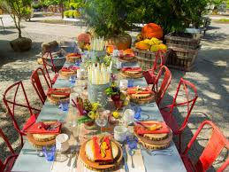 outdoor thanksgiving table decorations the home design outdoor