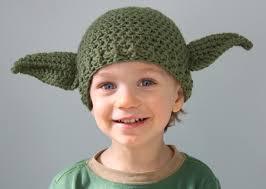 Star Wars Baby Halloween Costumes Simpático Gorro Tejido Yoda Geek Crochet Craft
