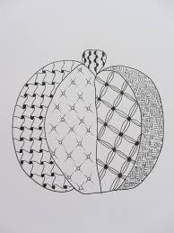 pumpkin zentangle by nancy domnauer nancy u0027s zentangle art