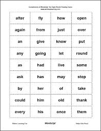 fry sight words grade 1st grade sight words
