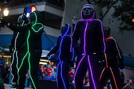 Light The Night Portland Photos Annual Starlight Parade Lights Up Downtown Portland Katu