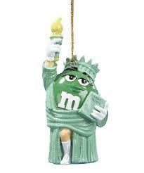 m m s liberty ornament blue yellow green orange