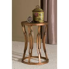 Antique Accent Table Innerspace Hourglass Accent Table Antique Copper Hayneedle