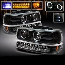 2001 chevy silverado fog lights chevy silverado 1999 2002 black projector headlights and led bumper